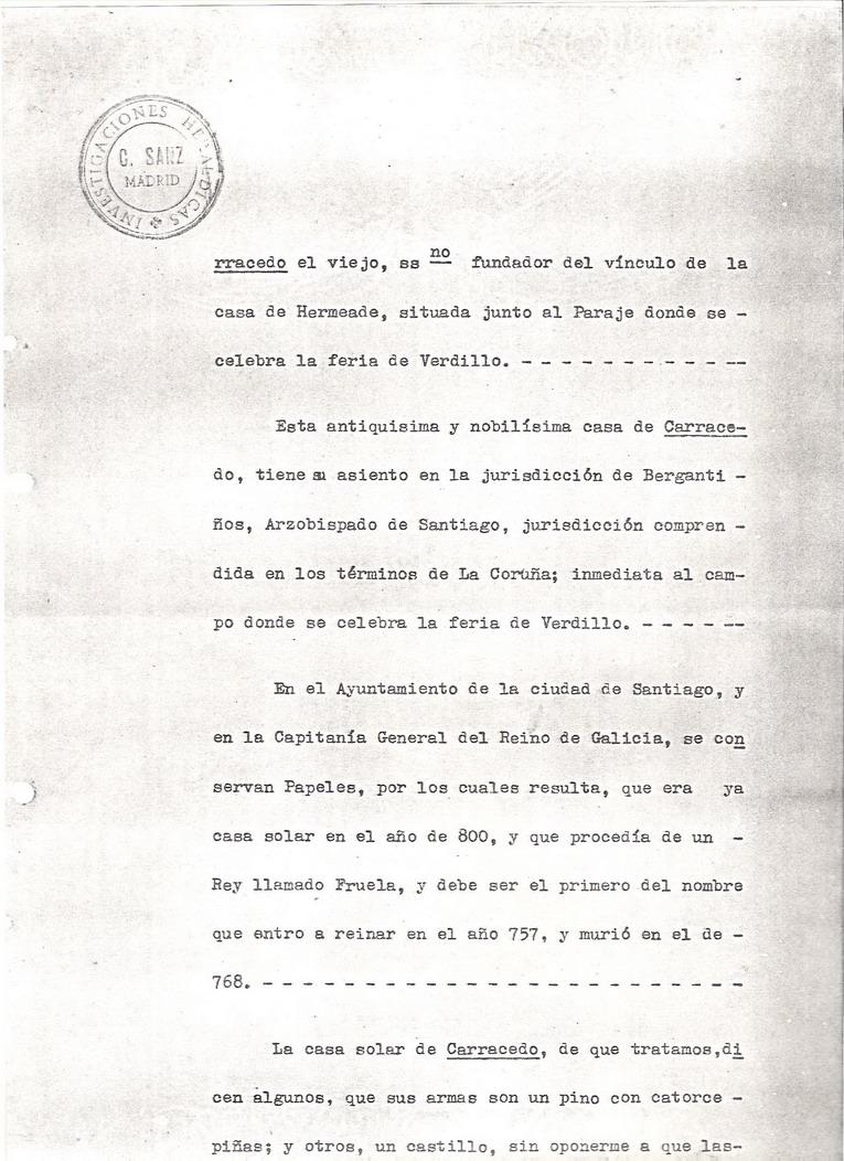 Datos hist ricos sobre el apellido carracedo - La casa del libro santiago de compostela ...